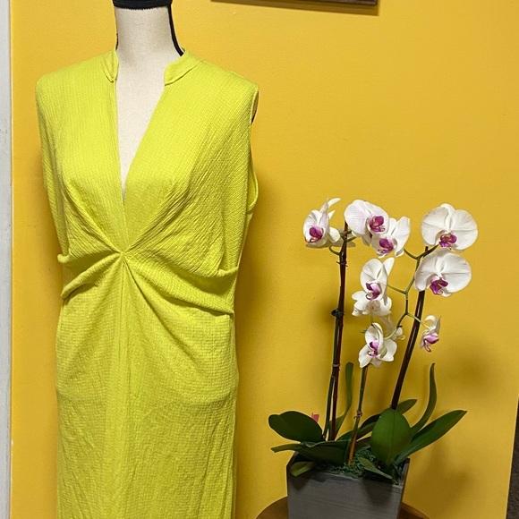 Zara Dresses & Skirts - NWT Zara green/yellow dress size S